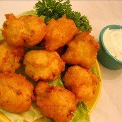 Cauliflower Cheddar Fritters