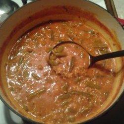 Healthy Hamburger and Green Bean Soup