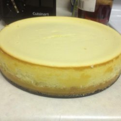 New York Style Cheesecake on Shortbread Crust