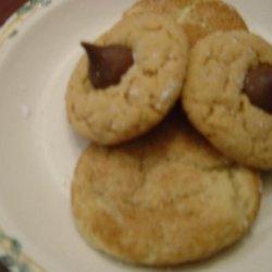 Chocolate Kiss Peanut Butter Cookies
