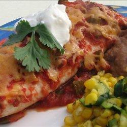 Low Fat Chicken Enchiladas With High Fat Taste.