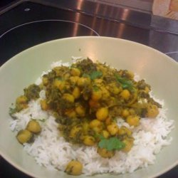 Curried Chickpeas & Kale