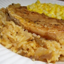Simply Oven Baked Pork Chops and Rice
