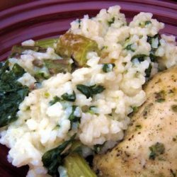 Baked Asparagus Spinach Risotto