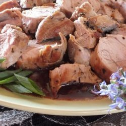 Pork Tenderloin with Merlot-Shallot Sauce