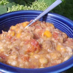 Vegetable-Beef Barley Soup (Crock Pot)
