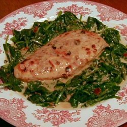 Broiled Chipotle Chicken With Creamy Spinach recipe