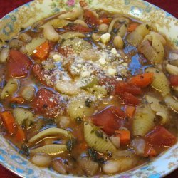 Vegetarian Pasta e Fagioli (Pasta and Beans) recipe
