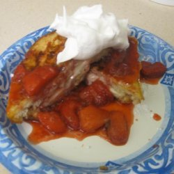 Cream Cheese Stuffed French Toast W/Strawberries and Whip Cream