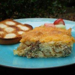 Breakfast Casserole Seasoned With Country Gravy