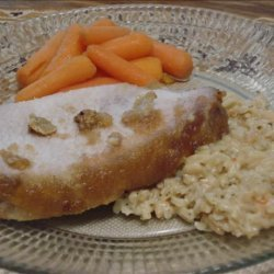 Applesauce Topped Pork Loin Roast