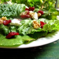 Spring Mix With Walnuts, Cranberries and Goat Cheese recipe