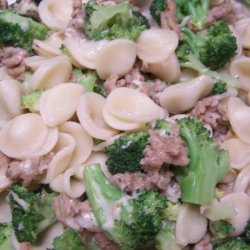 Broccoli, Sausage and Pasta Ears