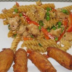 Chilled Oriental Chicken Pasta Salad