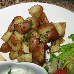 Oven Roast Greek Potatoes