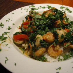Thai Shrimp & Spinach Curry recipe