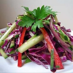 Red Cabbage Salad with a touch of Asia