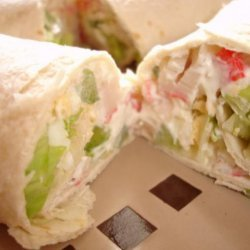 Crab Salad Tortilla Wraps * Subway Copycat