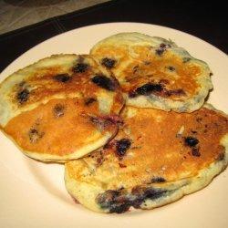 Blueberry Banana Happy Face Pancakes