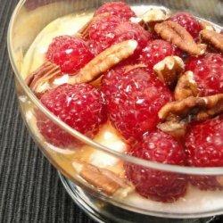 Greek Yogurt Dessert With Honey and Strawberries