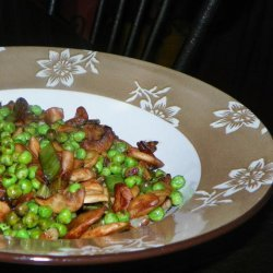 Green Peas and Mushrooms