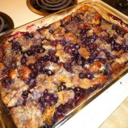 Blueberry, Bread Pudding