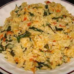 Buttered Spinach and Rice