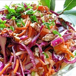 Dazzling Winter  Slaw - Red Cabbage, Apple and Pecan Salad recipe
