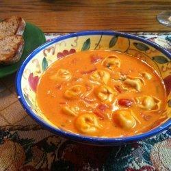 Creamy Tomato Basil Tortellini Soup recipe