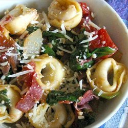 Weeknight Tortellini With Arugula & Crispy Prosciutto