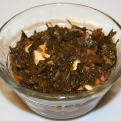 Saag Paneer (Low Fat Cheese With Spinach)