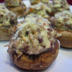 Spicy Sausage Stuffed Monterey Mushrooms