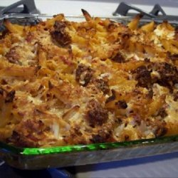 Baked Ziti With Tomato, Mozzarella and Sausage