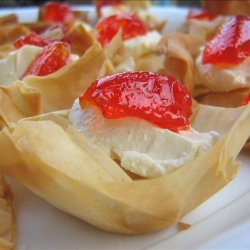 Easy Phyllo Pastry Tarts with Hot Pepper Jelly