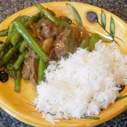 Sesame-Ginger Beef and Asparagus Stir-Fry