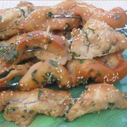 Sesame Chicken Skewers