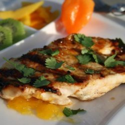 Grilled Chicken With Mango Habanero Glaze
