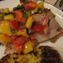 Santa Fe Pork Medallions with Peach Salsa