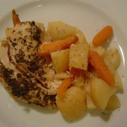 Crock Pot Greek Chicken and Potatoes