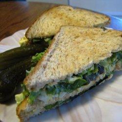 Egg Salad Club Sandwiches (Or Shrimp Salad Club)