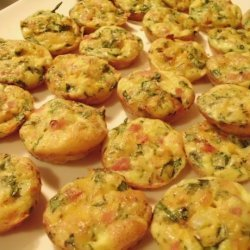 Mini Frittatas With Ham & Cheese