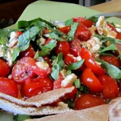 Baked Cherry Tomatoes and Feta