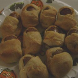 Mummy Dogs or is That Mommy Babies??? - Halloween - Baby Shower recipe