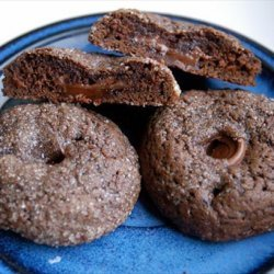 Chocolate Caramel Rolo Cookies recipe