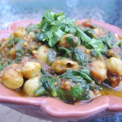 Just Right Spinach & Chickpea Curry (Vegan) - Chole Palak