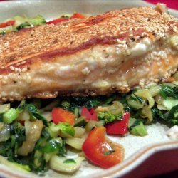 Sesame Salmon Fillets and Bok Choy