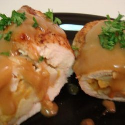 Chicken Breasts Stuffed With Apples & Cheddar
