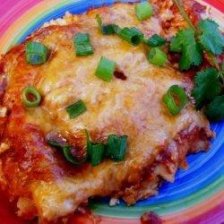 Chicken Cream Cheese Enchiladas