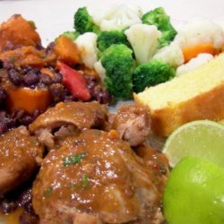Slow Cooker Latin Chicken W/ Sweet Potatoes and Black Beans