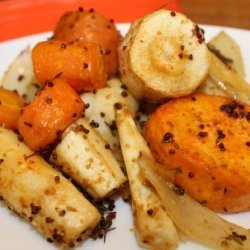Roasted Root Vegetables With Mustard recipe